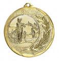 """Medaille """"Singos"""" Ø 40mm mit Emblem und Band - Farbe - gold"""