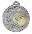 """Medaille """"Sunion"""" Ø 50mm mit Wunschemblem und Band - Farbe - silber"""
