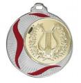 """Medaille """"Akragas"""" Ø 70mm mit Wunschemblem und Band - Farbe - silber"""