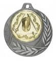 """Medaille """"Arezzo"""" Ø 40mm mit Wunschemblem und Band - Farbe - silber"""
