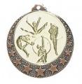 """Medaille """"Brixia"""" Ø 32mm mit Wunschemblem und Band - Farbe - bronze"""