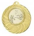 """Medaille """"Brinidis"""" Ø 50mm mit Wunschemblem und Band - Farbe - gold"""
