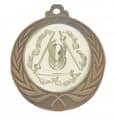 """Medaille """"Cortona"""" Ø 70mm mit Wunschemblem und Band - Farbe - bronze"""