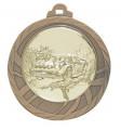 """Medaille """"Eloro"""" Ø 70mm mit Wunschemblem und Band - Farbe - bronze"""