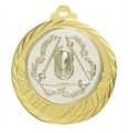 """Medaille """"Eloro"""" Ø 70mm mit Wunschemblem und Band - Farbe - gold"""