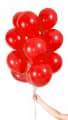 Helium Luftballons 30 Stück - Farbe - rot