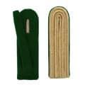 4-streifige Schulterstücke in gold - Filzfarbe - grün