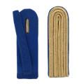 4-streifige Schulterstücke in gold - Filzfarbe - blau