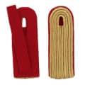 5-streifige Schulterstücke in gold - Filzfarbe - rot