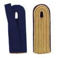 5-streifige Schulterstücke in gold - Filzfarbe - blau