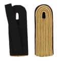 5-streifige Schulterstücke in gold - Filzfarbe - schwarz
