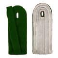 5-streifige Schulterstücke in silber - Filzfarbe - grün