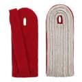 5-streifige Schulterstücke in silber - Filzfarbe - rot