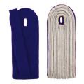 5-streifige Schulterstücke in silber - Filzfarbe - blau