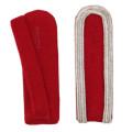 Schulterstücke mit Aussensoutache silber - Filzfarbe - rot