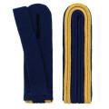 Schulterstücke mit Aussensoutache gold - Filzfarbe - blau