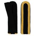 Schulterstücke mit Aussensoutache gold - Filzfarbe - schwarz
