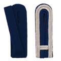 Schulterstücke mit Aussensoutache silber - Filzfarbe - blau