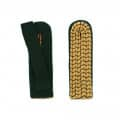 Schulterstücke mit farbigem National gold - Filzfarbe - grün