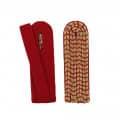 Schulterstücke mit farbigem National gold - Filzfarbe - rot