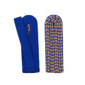 Schulterstücke mit farbigem National gold - Filzfarbe - blau