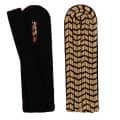 Schulterstücke mit farbigem National gold - Filzfarbe - schwarz