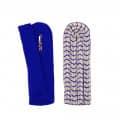 Schulterstücke mit farbigem National silber - Filzfarbe - blau