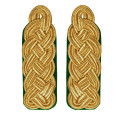 Schultergeflechte - Majorsgeflechte gold - Filzfarbe - grün