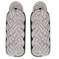 Schultergeflecht - Majorsgeflecht silber - Filzfarbe - grün