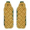 Schultergeflecht - Majorsgeflecht gold - Filzfarbe - grün