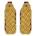 Schultergeflecht - Majorsgeflecht gold - Filzfarbe - rot