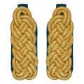 Schultergeflecht - Majorsgeflecht gold - Filzfarbe - blau