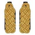 Schultergeflecht - Majorsgeflecht gold - Filzfarbe - schwarz