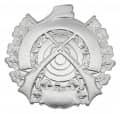 Schützenabzeichen mit Gravurfläche - Ausführung - silber
