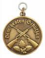 Medaille - Dem besten Schützen - Farbe - bronze
