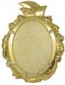 Narrenbrosche 3D-geprägt - Ausführung - gold