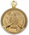 Schützenmedaille 7 - Farbe - gold