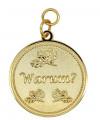 """Medaille """"Warum"""" - Ausführung - gold"""