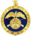 Medaille - Farbe - gold-blau