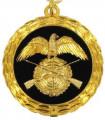 Medaille - Farbe - gold-schwarz