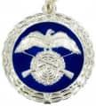 Medaille - Farbe - silber-blau