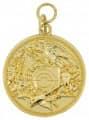 Schützenmedaille 12 - Farbe - gold