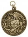 Schützenmedaille 12 - Farbe - altgold