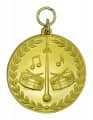 "Musikermedaille ""Tambour"" - Farbe - gold"