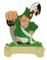 Schütze Säbel mit Gravurfläche - Farbe - grün/weiße Schärpe