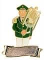 """Musiker """"Larry Lyra"""" Lyraspieler mit Gravurfläche - Ausführung - grün-weiß"""