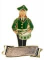 Musikerin Trommelspielerin mit Gravurfläche - Ausführung - grün-schwarz