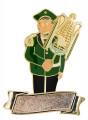 """Musiker """"Larry Lyra"""" Lyraspieler mit Gravurfläche - Ausführung - grün-schwarz"""