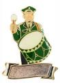 """Musiker """"Paul Pauke"""" mit großer Trommel mit Gravurfläche - Ausführung - grün-schwarz"""