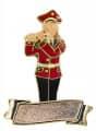 Musikerin Flötenspielerin mit Gravurfläche - Ausführung - rot-schwarz